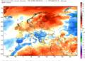 Le anomalie termiche continentali da inizio mese a oggi.