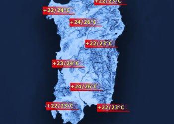 Le temperature massime di sabato 21 maggio.
