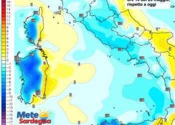 Le variazioni di temperatura delle ore 14 di domenica 29 maggio.