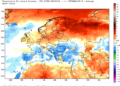 Le anomalie termiche continentali del mese di maggio 2016.