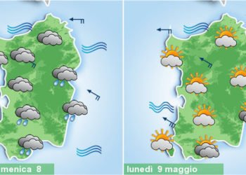 sardegna meteo piogge domenica poi caldo 350x250 - Piogge, temporali, fresco e vento, poi meteo migliora da martedì