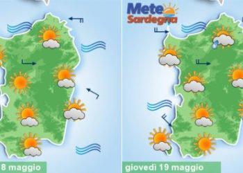 sardegna meteo settimana sole vento perturbazione 350x250 - Piogge, temporali, fresco e vento, poi meteo migliora da martedì