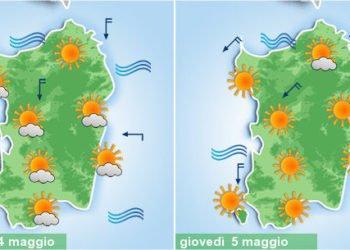 sardegna meteo sole maggio tepore primavera 350x250 - Meteo, nuovo tepore da piena primavera. Alcuni giorni di sole, poi peggiora