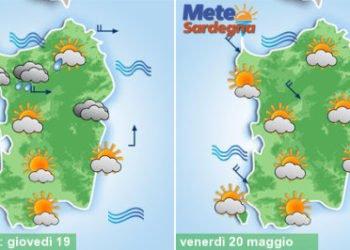 sardegna meteo vento piogge sole temperature maggio 350x250 - Piogge, temporali, fresco e vento, poi meteo migliora da martedì