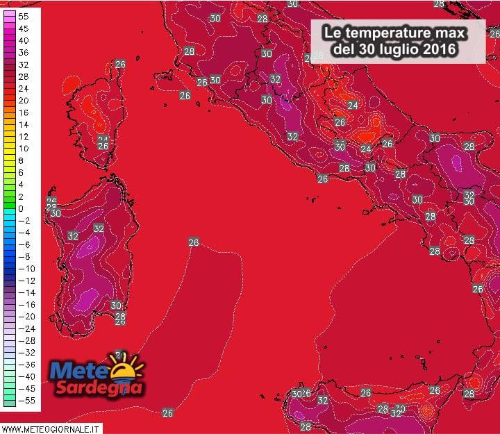 Temperature max sardegna - Parte la scalata ai 40°C: li raggiungeremo già oggi?
