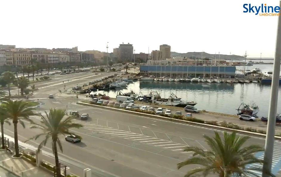 Anche Cagliari non è da meno, bel tempo e sole.