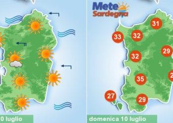 sardegna meteo caldo weekend luglio estate temperature 350x250 - Clou del caldo africano, ma sarà grande svolta meteo la prossima settimana