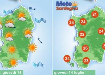 sardegna meteo cambiamento rinfrescata maestrale 350x250 - Meteo d'estate, caldo ed afa protagonisti. Temperature attese in aumento