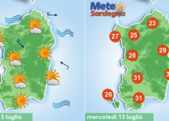sardegna meteo cambiamento svolta crollo temperature vento 350x250 - Meteo d'estate, caldo ed afa protagonisti. Temperature attese in aumento