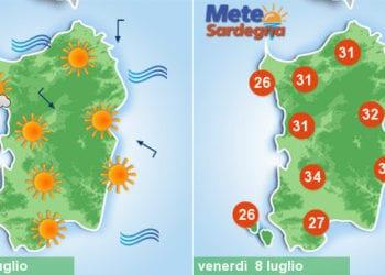 sardegna meteo estate caldo weekend 350x250 - Clou del caldo africano, ma sarà grande svolta meteo la prossima settimana