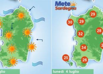 sardegna meteo sole maestrale caldo temperature 350x250 - Clou del caldo africano, ma sarà grande svolta meteo la prossima settimana