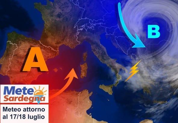 sardegna meteo tendenza luglio break estate - Tracollo termico, 10 gradi in meno. Meteo più gradevole, fino a quando?