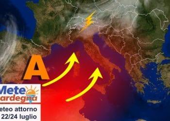 sardegna tendenza meteo luglio caldo sole anticiclone 350x250 - Meteo d'estate, caldo ed afa protagonisti. Temperature attese in aumento