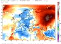 Le anomalie termiche continentale da inizio mese a oggi.