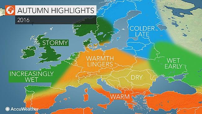 La proiezione stagionale americana: come sarà l'autunno sul Mediterraneo e in Sardegna?