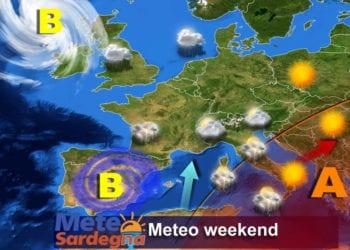 La previsione meteo per il weekend.