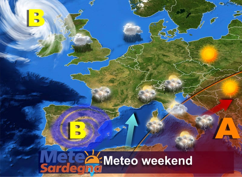 Il meteo weekend, il 1° del mese di ottobre.