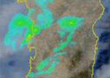 Radar 2 350x250 - Mari della Sardegna con temperature tropicali, ecco causa del meteo estremo