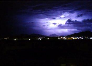 Il temporale di ieri notte su Olbia.