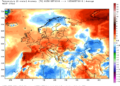 Le anomalie termiche continentali dal 01 al 06 settembre.