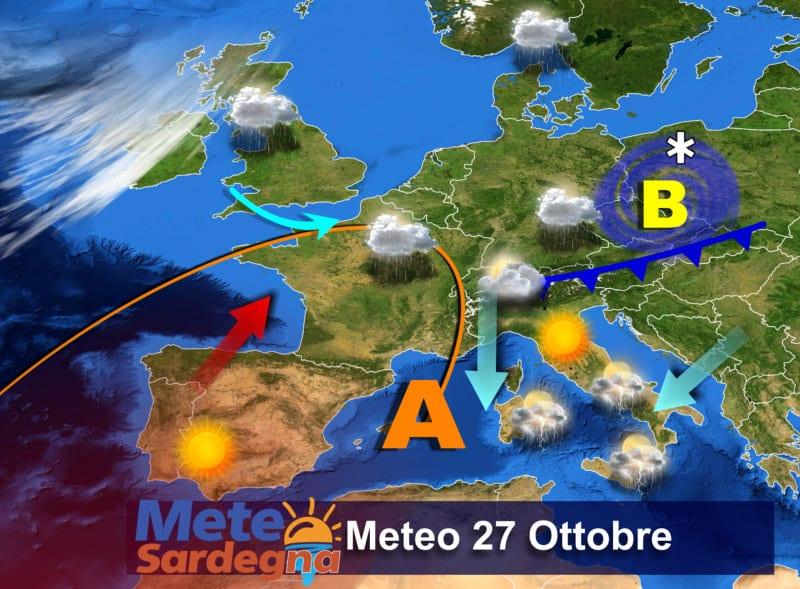 Il meteo di oggi, il 27 Ottobre.