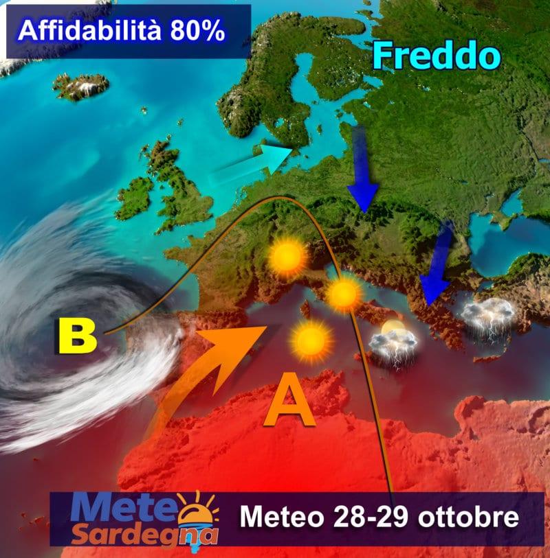 Il meteo dei prossimi giorni, nello specifico del 28-29 Ottobre.