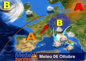 Il meteo di oggi, giovedì 06 Ottobre.