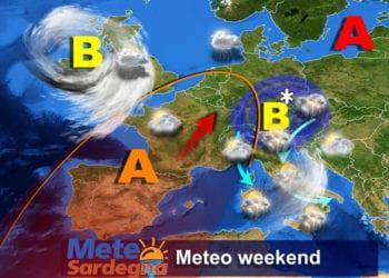 Il meteo del fine settimana: oggi ancora piogge e qualche temporale, domenica migliora.