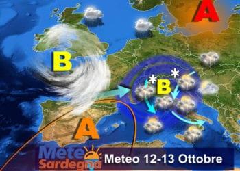Le previsioni meteo per le giornate di mercoledì 12 e giovedì 13 ottobre.