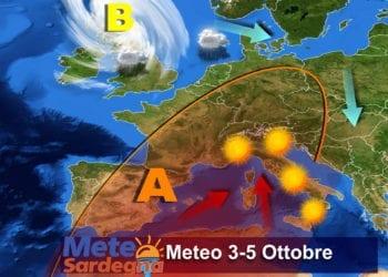 Le previsioni meteo per la prima parte della prossima settimana.