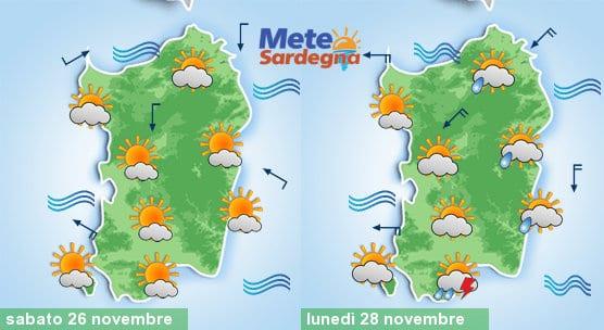 Meteo in miglioramento sabato e domenica, lunedì tornerà qualche pioggia e verrà il freddo.