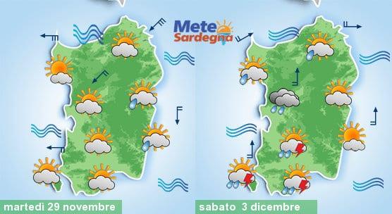Domani un po' di piogge su zone orientali, poi possibile peggioramento nel 1° weekend di dicembre