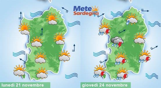 Oggi bel tempo, giovedì invece potrebbe piovere molto con anche dei temporali.