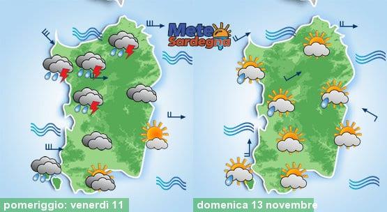 Le previsioni meteo per questo pomeriggio e per la giornata di domenica.