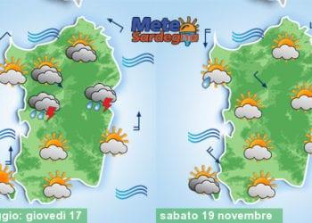 Previsioni meteo per il pomeriggio di oggi e per la giornata di sabato.