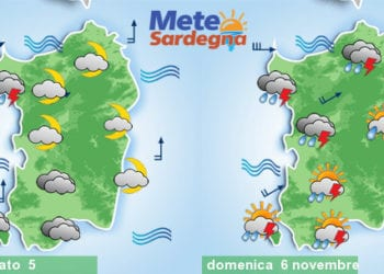 Le condizioni meteo tra sabato sera e la giornata di domenica.