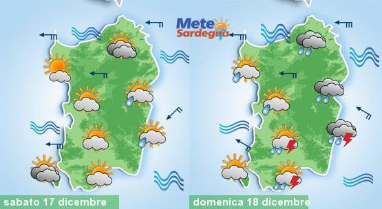 Le previsioni meteo per il fine settimana pre natalizio.