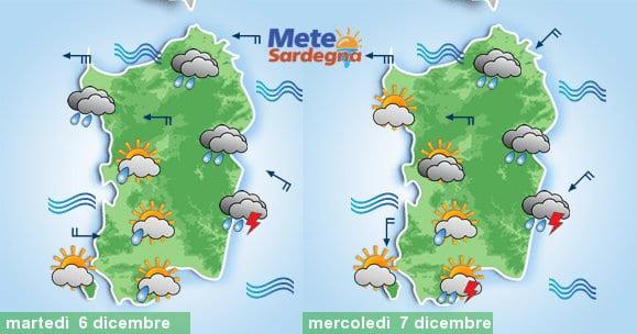 Le piogge attese martedì e mercoledì prossimi.