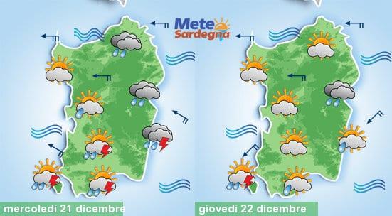 Le previsioni meteo per oggi e domani: insisteranno delle piogge, anche qualche temporale.