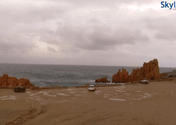 arbatax 1 350x250 - Arrivano piogge su Sardegna occidentale