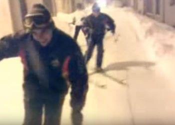 sci nelle strade di fonni 350x250 - La tempesta di Scirocco, pioggia, temporali, grandine: video e immagini