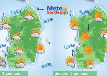 Martedì avremo qualche goccia di pioggia, giovedì e venerdì qualche fiocco di neve.
