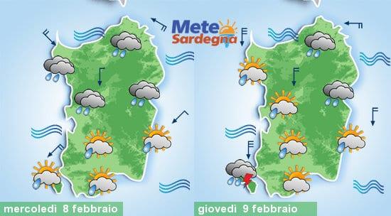 Mercoledì e giovedì brutto tempo.