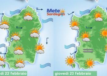 Meteo sardegna 7 350x250 - Meteo, nuovo tepore da piena primavera. Alcuni giorni di sole, poi peggiora