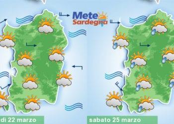 Condizioni meteo in graduale cambiamento, con peggioramento probabile al sabato.