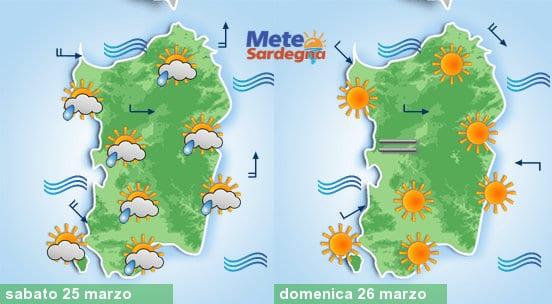 Sabato ci aspettiamo delle piogge, mentre domenica potremmo assistere a un rapido miglioramento.