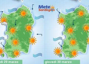 Meteo sardegna 18 350x250 - Meteo, nuovo tepore da piena primavera. Alcuni giorni di sole, poi peggiora