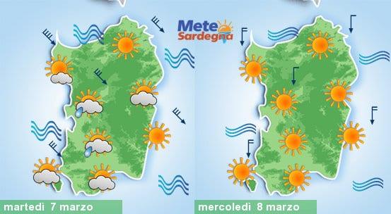Tra oggi e martedì meteo in peggioramento con bufera di Maestrale e calo delle temperature.