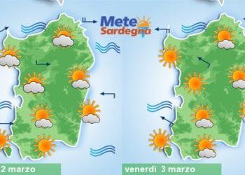Meteo sardegna 350x250 - Meteo, nuovo tepore da piena primavera. Alcuni giorni di sole, poi peggiora
