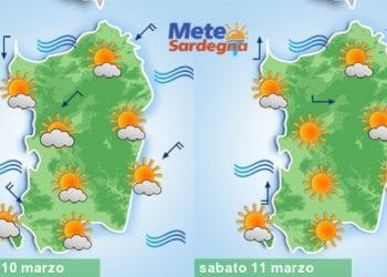 Meteo sardegna 6 350x250 - Meteo, nuovo tepore da piena primavera. Alcuni giorni di sole, poi peggiora